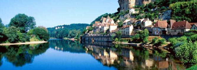 Photo de la ville de Beynac, en Dordogne, en Périgord noir