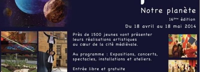 Image de l'affiche du festival des arts en folie de Sarlat