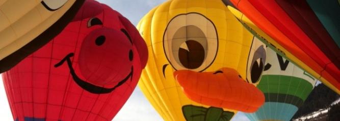 Photo prise au cours du festival de ballon de Chaâteau d'Oex