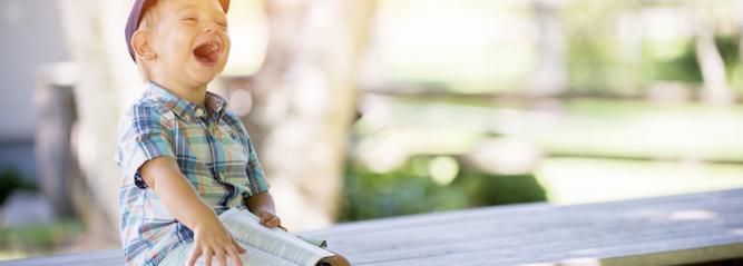 Enfant en vacances