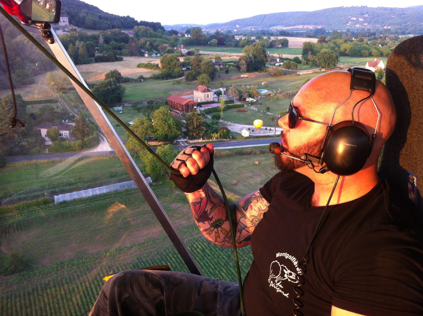Vol à 360° avec Constantin