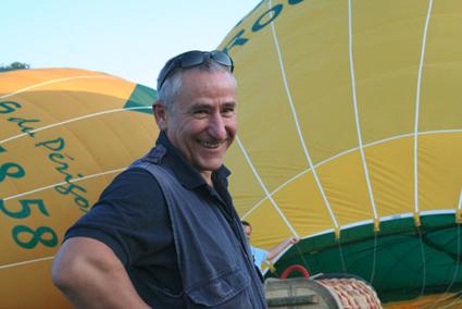 Jean-Luc pilote à Montgolfières du Périgord