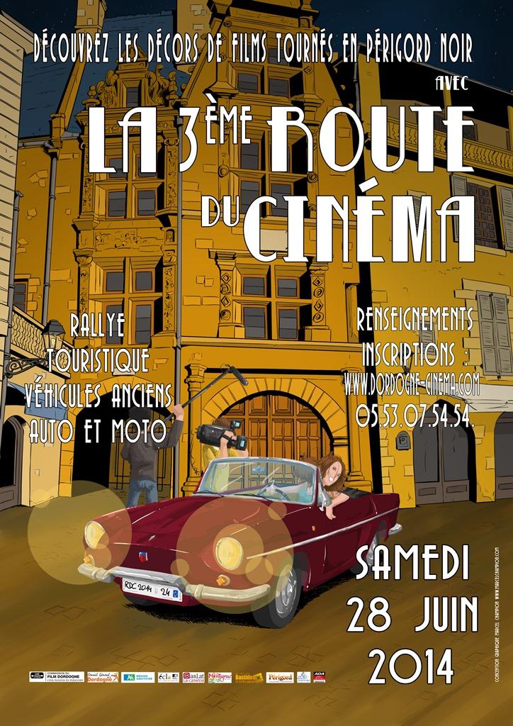 Image représentant l'affiche de la 3ème route du Cinéma