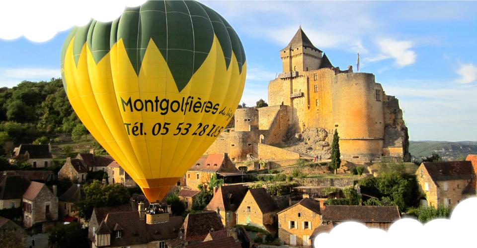 Découvrir le Périgord à bord d'une montgolfière
